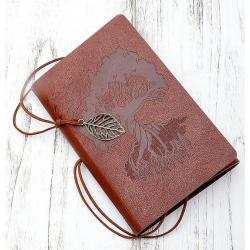 Блокнот Дерево знаний, 10х15, коричневый