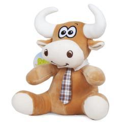 Мягкая игрушка Bebelot Коровка в галстуке, 21 см, цвет светло-коричневый