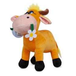 Мягкая игрушка Bebelot Коровка с цветком, 30 см