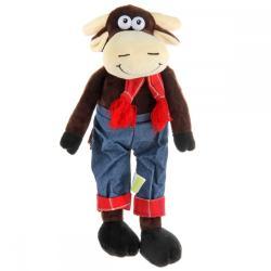 Мягкая игрушка Корова, в штанах (15 см)
