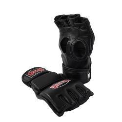 Перчатки для смешанных единоборств Jabb JE-23231T, натуральная кожа, черные, размер S