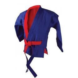Куртка для самбо Atemi AX55, двухсторонняя, красно-синяя, плотность 520 г/м2, размер 56