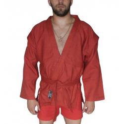 Куртка для самбо Atemi ёлочка AX5, без подкладки, красное, размер 24