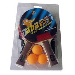 Набор для настольного тенниса DOBEST BR18 1 звезда, 2 ракетки, 3 мяча, сетка и крепеж