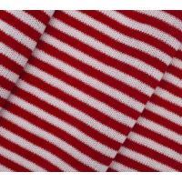 Трикотаж полосатый, цвет белый, красный, 50x50 см, арт. AR1365