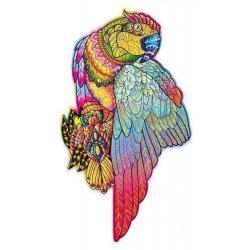 Деревянный пазл Wood Trick Яркий попугай, 35x20 см