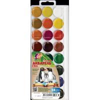 Акварель медовая Zoo, 24 цвета, без кисти