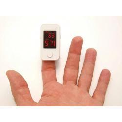 Пульсоксиметр для пальца BLS-1102А, диапазон измерения SpO2 70%-99%, измерение пульса 30-240 ударов в минуту, цвет белый