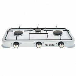 Газовая плита Delta, трехконфорочная, цвет белый, артикул D-2207
