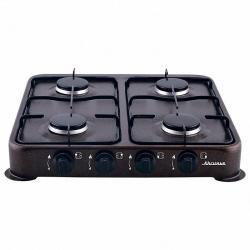 Газовая плита Аксинья четырехконфорочная, цвет коричневый, арт. КС-108