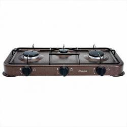 Газовая плита Аксинья трехконфорочная, цвет коричневый, арт. КС-107