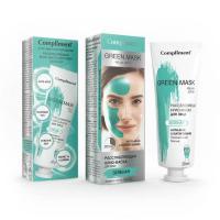 Расслабляющая крио-маска для лица Compliment Green Mask, 80 мл