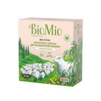 Таблетки для посудомоечных машин BIOMIO BIO-TOTAL с эфирным маслом эвкалипта, 30 штук