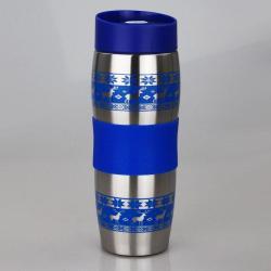 Термокружка вакуумная Alpenkok AK-04023A Олени, 400 мл (синий)