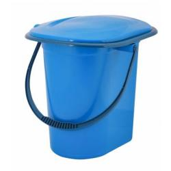 Ведро-туалет, 17 л (голубой)