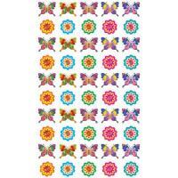 Набор для поощрения на самоклеящейся бумаге Бабочки и цветочки