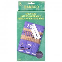 Подарочный набор вязальных принадлежностей, многофункциональный, бамбук, 30 предметов