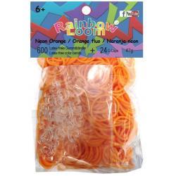 Резинки для плетения Rainbow Loom  Неоновый оранжевый Solid Bands - Neon Orange