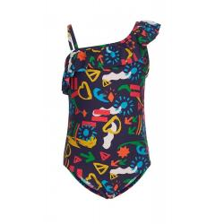 Купальник для девочки Аманда, размер 92-52, цвет фиолетовый, синий