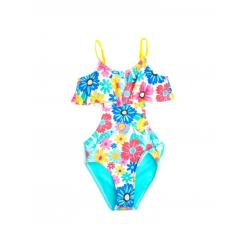 Купальник для девочек Coccodrillo Swimming costume, размер 116, цвет разноцветный, арт. WC1376407SWI-022