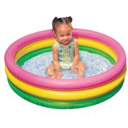 Детский надувной бассейн Радуга, 86x25 см