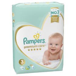 Подгузники Pampers Premium Care Midi, 6-10 кг, 74 штуки