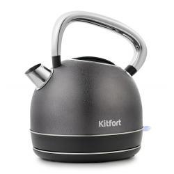 Чайник Kitfort KT-696-4, 1,7 л, 1800–2150 Вт, чёрная кожа