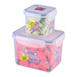 Набор контейнеров ХЕ043. ХЕ203, прямоугольный, квадратный, цвет синий, 360 мл, 1,3 литра, 2 штуки (количество товаров в комплекте 2)