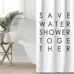 Штора для ванной Этель Save water, 145x180 см, полиэстер