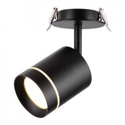Встраиваемый светодиодный светильник Novotech Arum, IP20, COB 9 Вт, 160-265 В (чёрный)