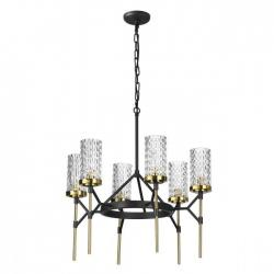 Люстра Odeon Light VITTORIA, E14, 6x60 W (черный/золотистый/металл)