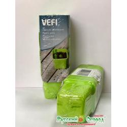 Горшочки квадратные для рассады, 6 см, зеленый, 30 штук