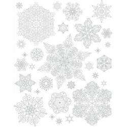 Новогоднее оконное украшение Снежинки