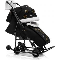 Санки-коляска Pikate Limited Edition Black