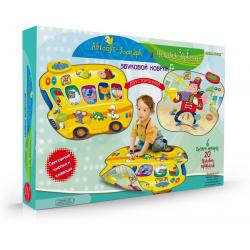 Автобус-Зоопарк и Человек-Оркестр. Звуковой коврик двусторонний