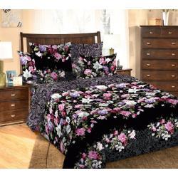 Комплект постельного белья Бриджит 1, 2-х спальный, бязь, цвет черный