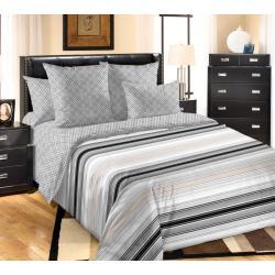 Комплект постельного белья Инфант 1, 2-х спальный с европростыней, перкаль