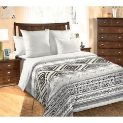 Комплект постельного белья Навахо 1, 2-х спальный с европростынёй, перкаль (цвет бежевый)