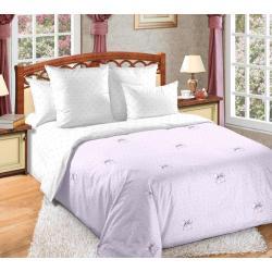 Комплект постельного белья Сладкий поцелуй 1, 2-х спальный с европростынёй, сатин (цвет розовый)