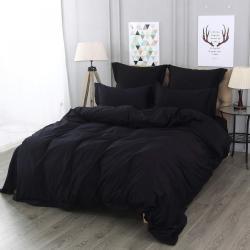 Комплект постельного белья Флоренция, семейный, цвет черный