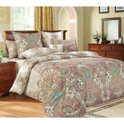 Комплект постельного белья Великолепие 1, семейный, сатин (цвет бежевый)