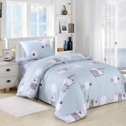 Комплект детского постельного белья Пигги, цвет голубой