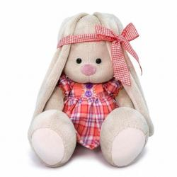Мягкая игрушка Зайка Ми, в клетчатом платье, 23 см