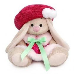 Мягкая игрушка Зайка Ми в юбке и малиновом берете, 15 см, арт. SidX-438