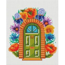 Алмазная мозаика Сказочная дверь, с подрамником, 20x25 см