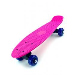 Скейт детский для начинающих, 41 см, цвет розовый