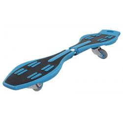 Скейтборд балансирующий Larsen Wave Board, 85x23 см, чёрный/голубой
