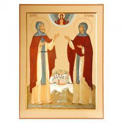 Икона Петр и Феврония Муромские, 200x300 мм