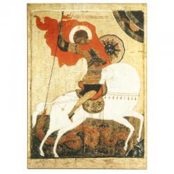Икона Георгий Победоносец, лак, 140х190 мм