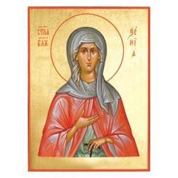 Икона Ксения Петербугрская, 14х19 см